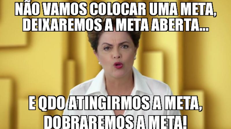 Dilma e a meta